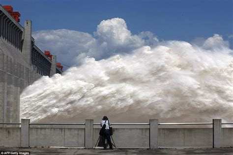 China's Three Gorges Dam releases huge torrent of water as