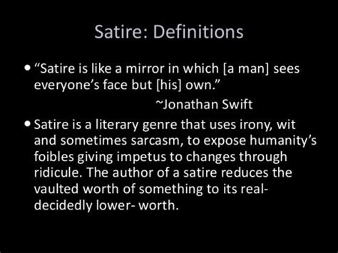 What Do You Know About Satire In English Literature