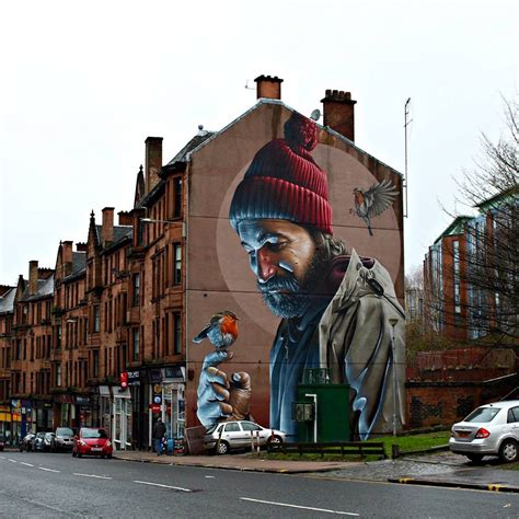 A Photorealistic Mural by 'Smug' on the Streets of Glasgow