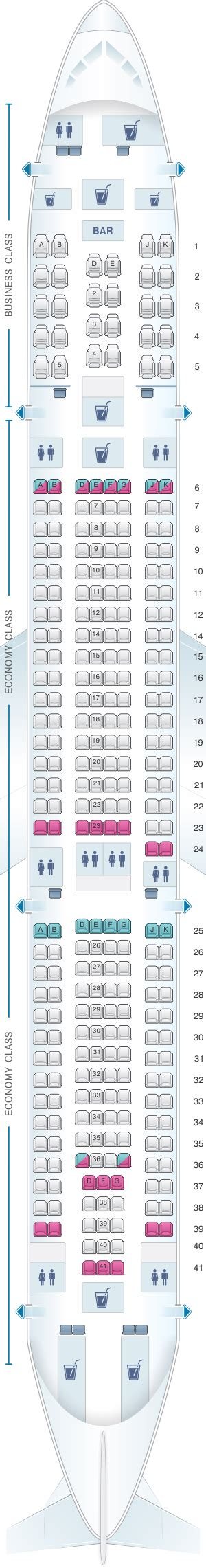 Seat Map Turkish Airlines Airbus A330 300 | SeatMaestro