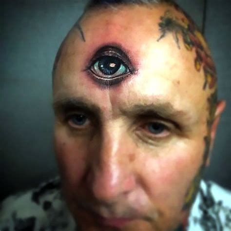 A crazy, but meaningful third eye tattoo inked on the man