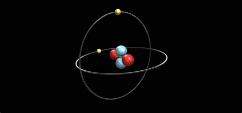 Helium Atom, With Element's Symbol, Number, Mass And