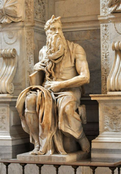 Moses by Michelangelo   From Wikipedia: Pope Julius II