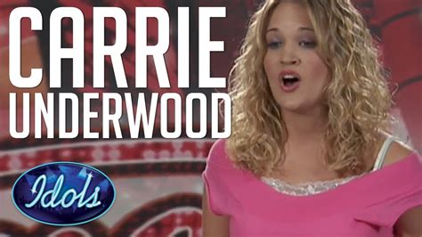 Carrie Underwood First Audition On American Idol Singing I