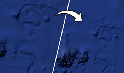 Circular structure spotted slowly crawling across Pacific