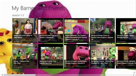 Barney and Friends series for Windows 8 and 8