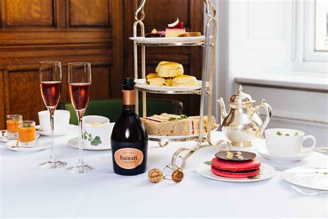 Enjoy afternoon tea with Ruinart champagne at Browns Hotel