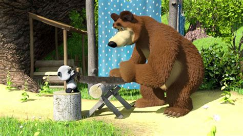 Masha and the Bear Full HD Wallpaper Image for PC