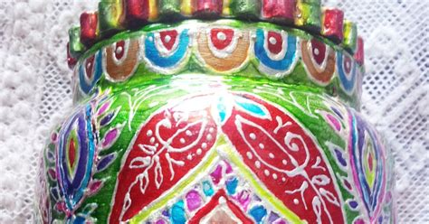 My Creations: Decoupage n Glass Painting On Pickle Jar