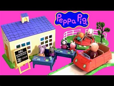 Play Doh Peppa Pig School Time Fun Playset Learn ABC using