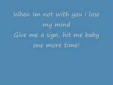 Hit Me Baby One More Time With Lyrics - YouTube