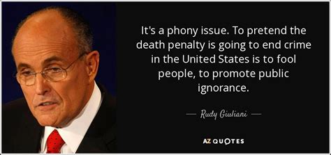 Rudy Giuliani quote: It's a phony issue